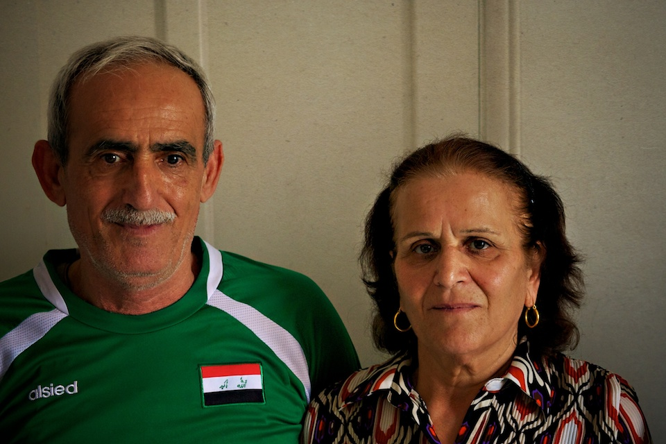 Ghanim and his wife Nagiba