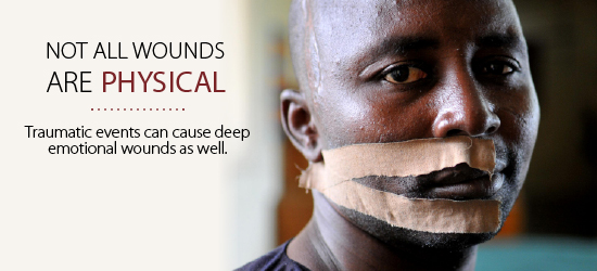 Not all wounds are physical. Traumatic events can cause deep emotional wounds as well.