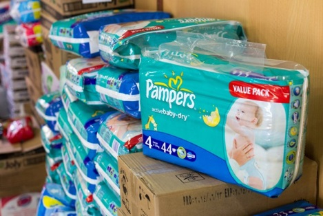 Diapers in Iraq for Refugees