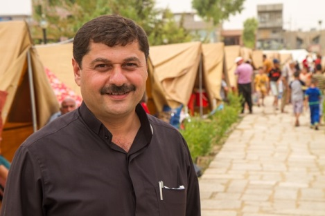 Father Emmanuel in Iraqi Refugee Camp