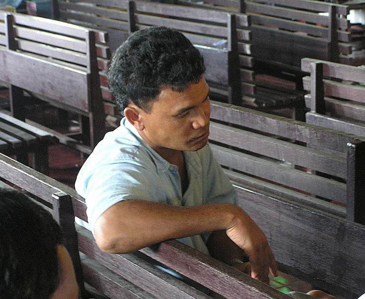Man in church- Indonesia
