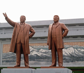 North Korea Leader Statues