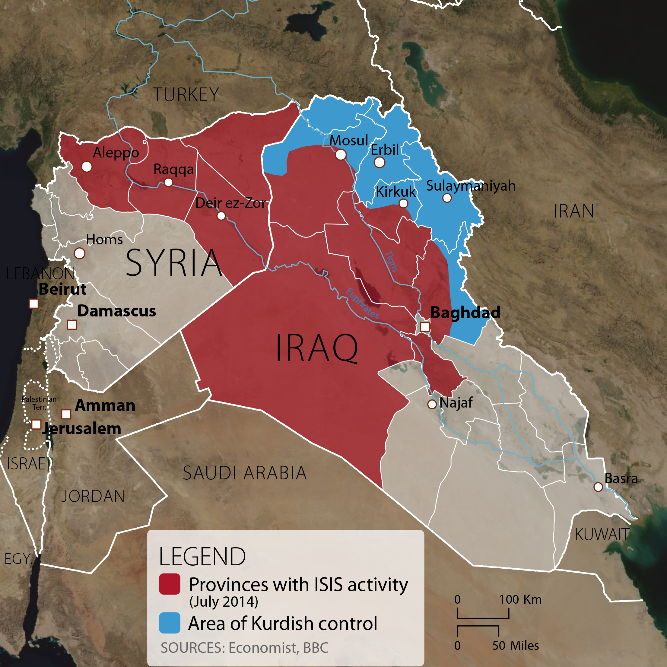 ISIS Activity In Syria and Iraq