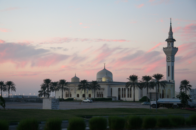 Photo of Mosque in Qatar where Christian Persecution is prevalent.