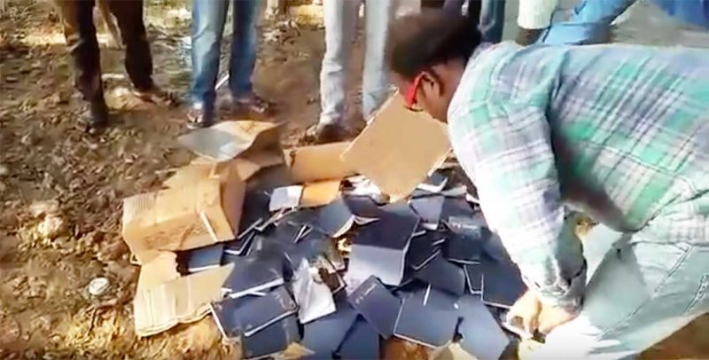 HINDU EXTREMISTS STEAL BIBLES, BURN THEM IN INDIA